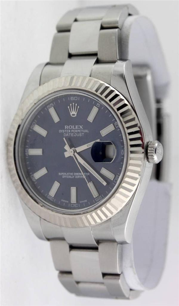 Rolex 116334 Datejust II 18Kt White Gold Bezel