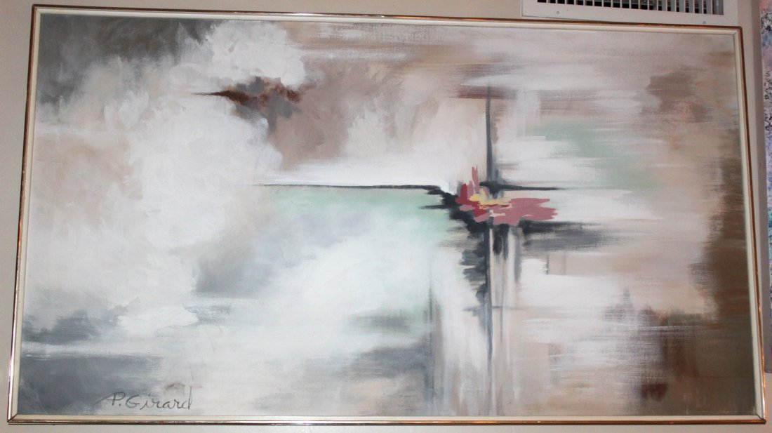 P Girard Abstract Oil Painting
