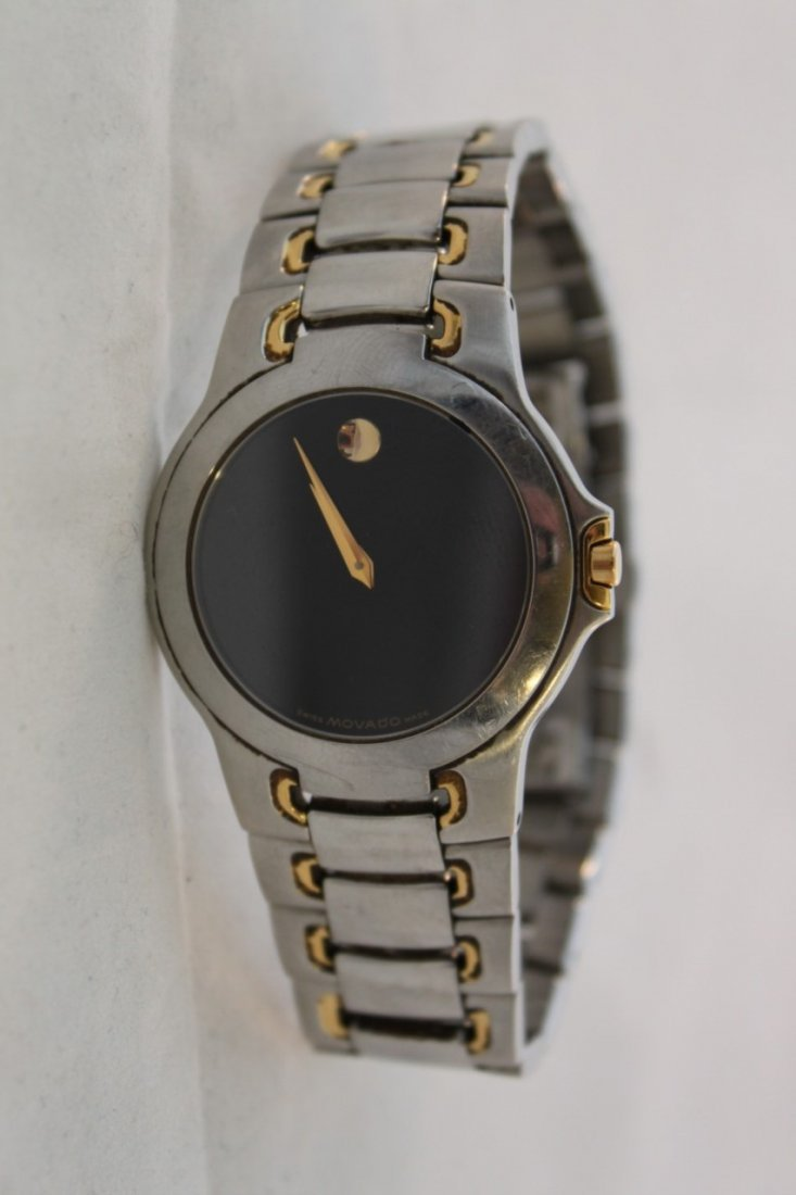 Used Movado Watch 81 G1 1898 Stainless Steel Two Tone
