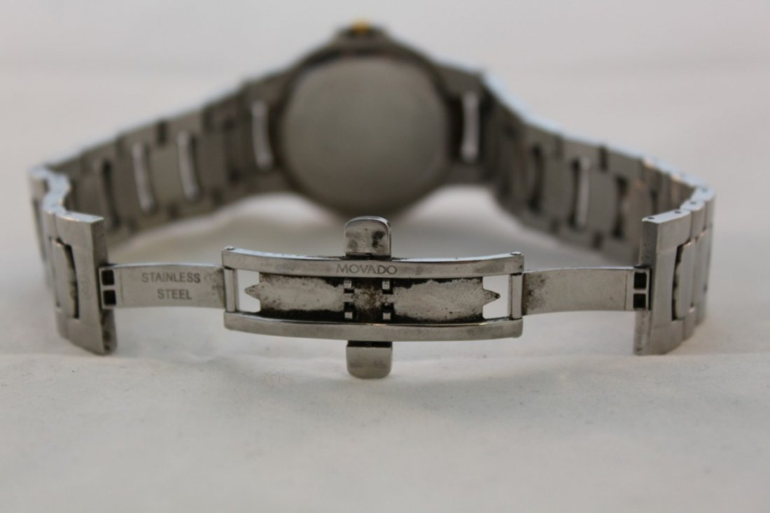 Used Movado Watch 81 G1 1898 Stainless Steel Two Tone - 4