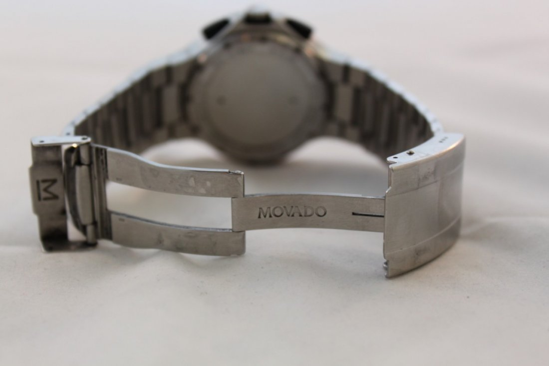 Used Movado Watch Sport 800 84 c5 1896 Blue Chronograph - 4