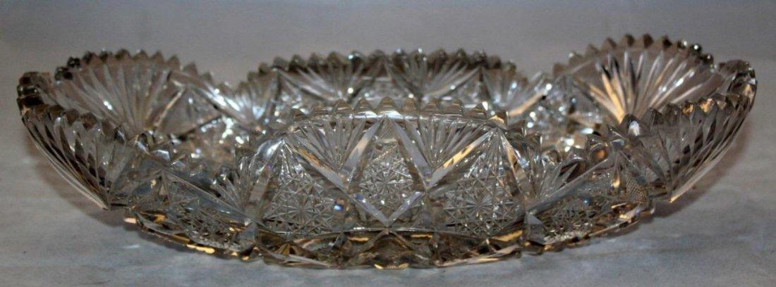 Cut Glass Lead Crystal Fruit Nut Candy Free Form