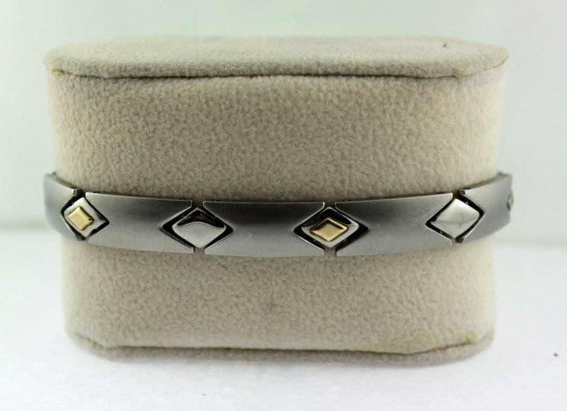 Stainless Steel 12 Panel Bracelet Diamond Shaped Links