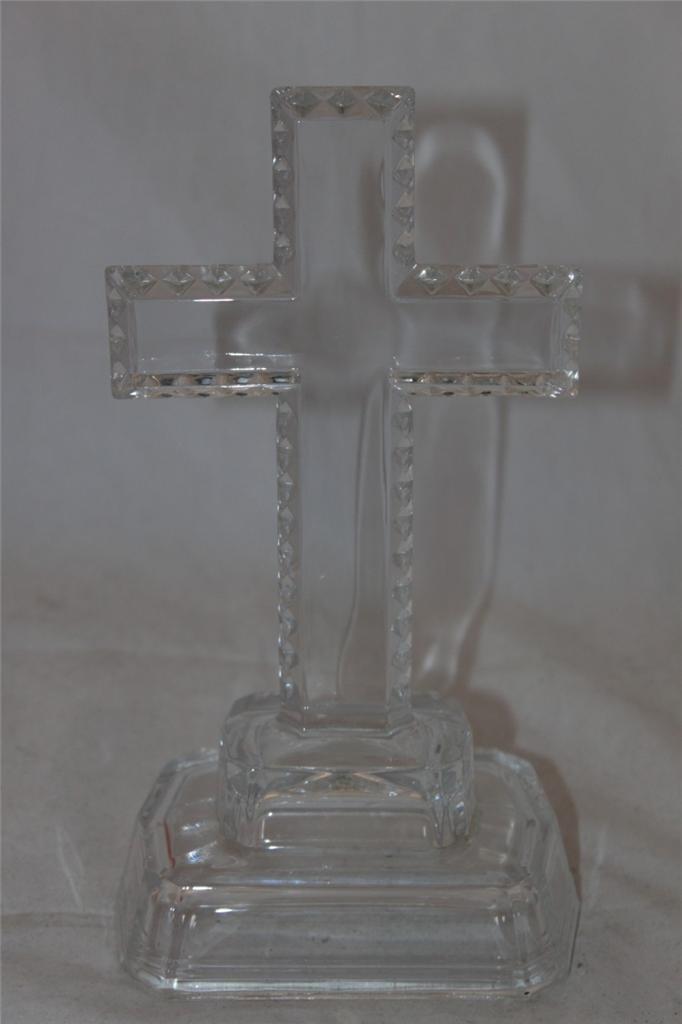 Lead Crystal Cross Decagon Base Statue