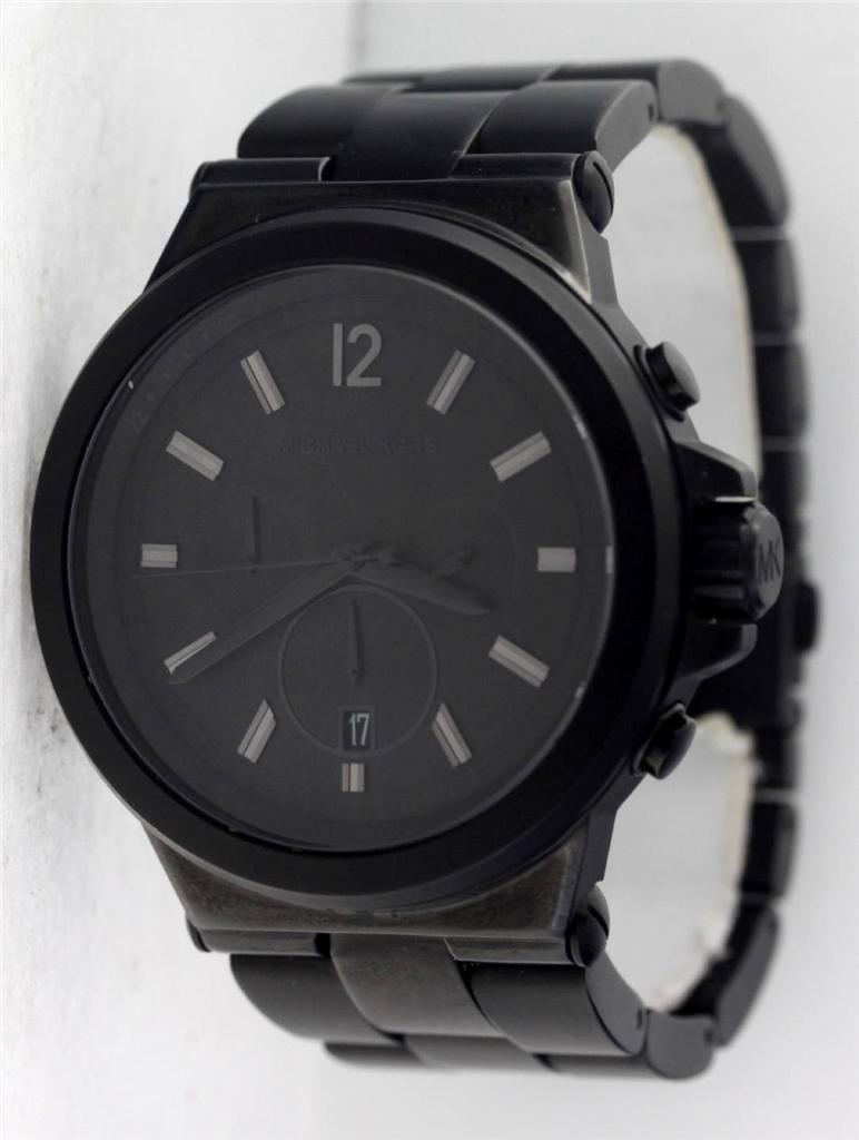 Michael Kors Dylan Black Band Black Dial Chronograph