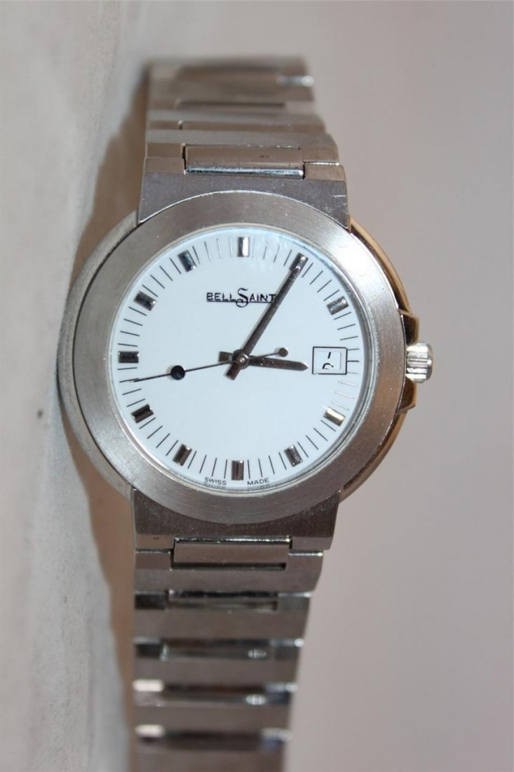 Bell Saint White Dial Stainless Steel Men's Watch