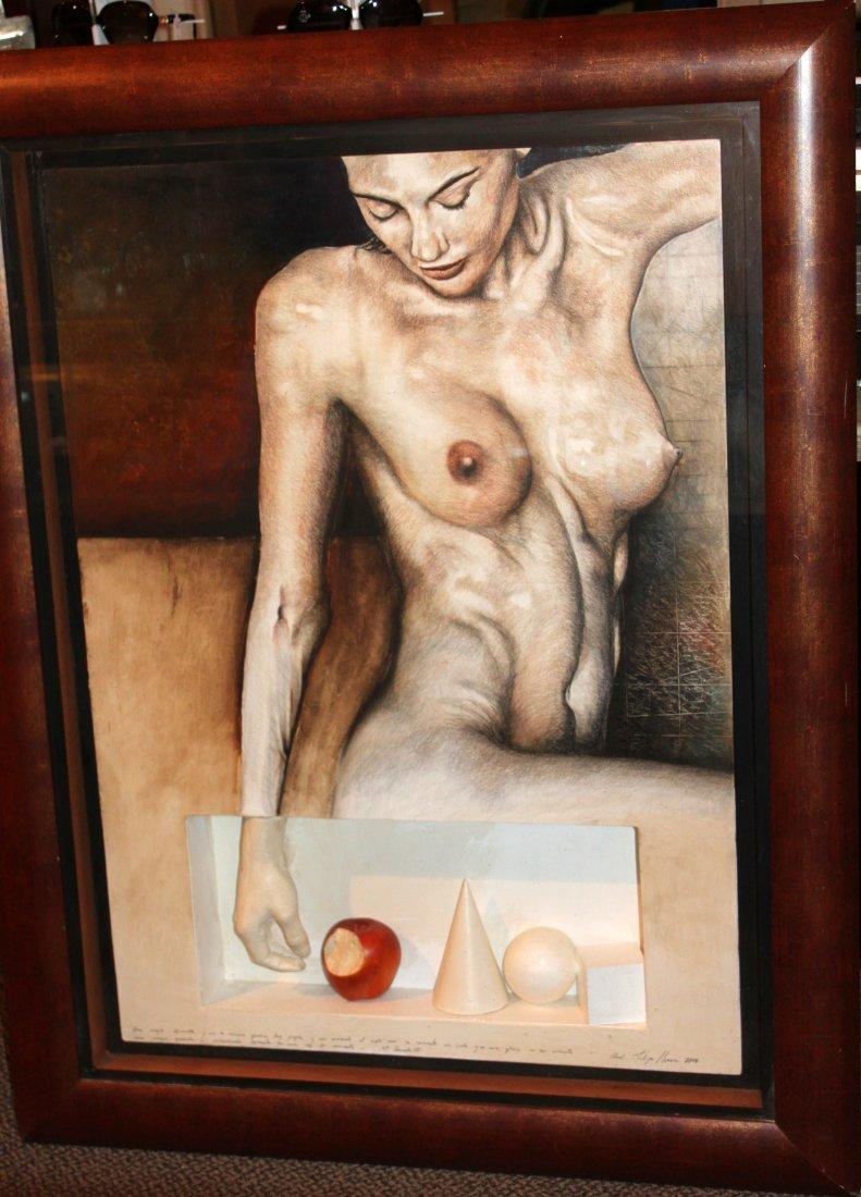Felipe Herrera Naked Woman Painting Drawing & Sculpture