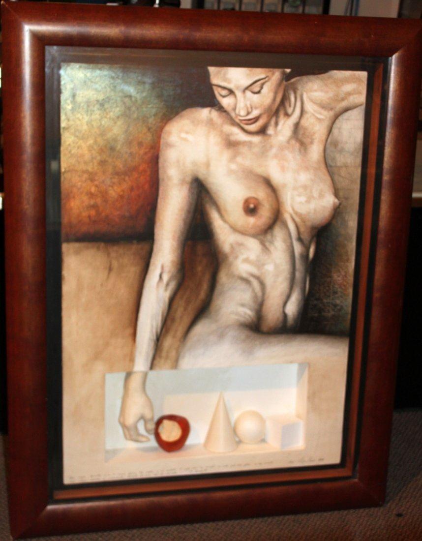 Felipe Herrera Naked Woman Painting Drawing & Sculpture - 2