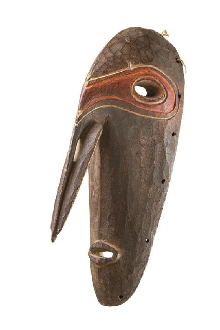 Rare mask with prominent nose - Papua New Guinea - West