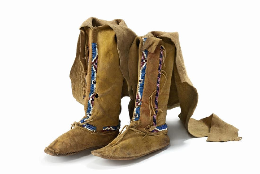 Child's high top moccasins - North America, Kiowa