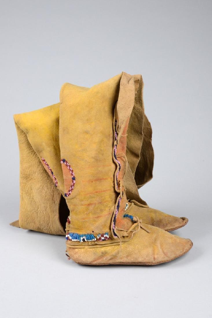 Child's high top moccasins - North America, Kiowa - 5
