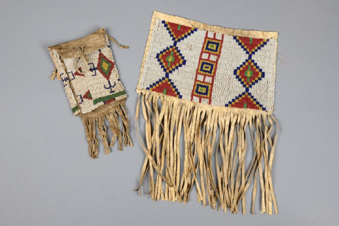 Bag and flap of a bag - North America, Sioux