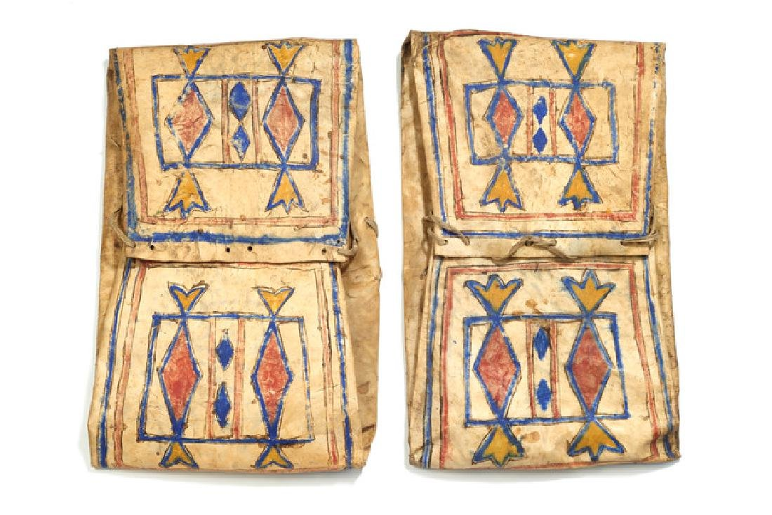 "Pair of folded bags ""parflèche"" - North America,"