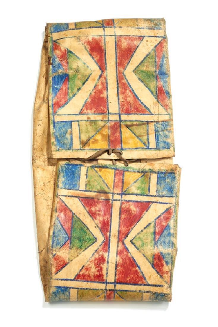 """Folded bag """"parflèche"""" - North America, Plains (Crow?)"""