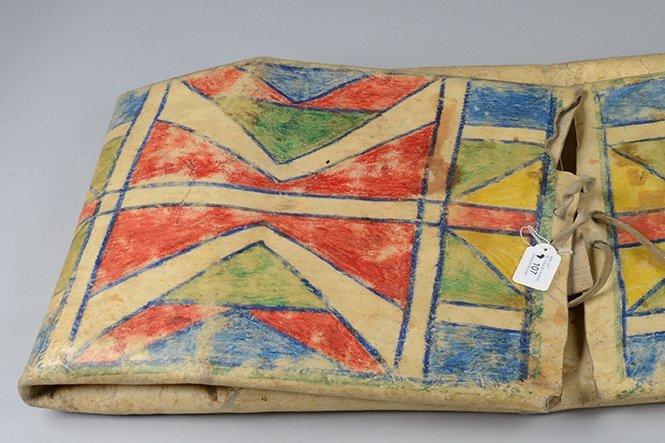 """Folded bag """"parflèche"""" - North America, Plains (Crow?) - 3"""