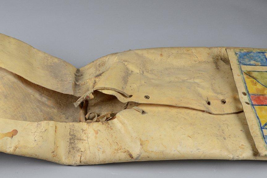 """Folded bag """"parflèche"""" - North America, Plains (Crow?) - 4"""