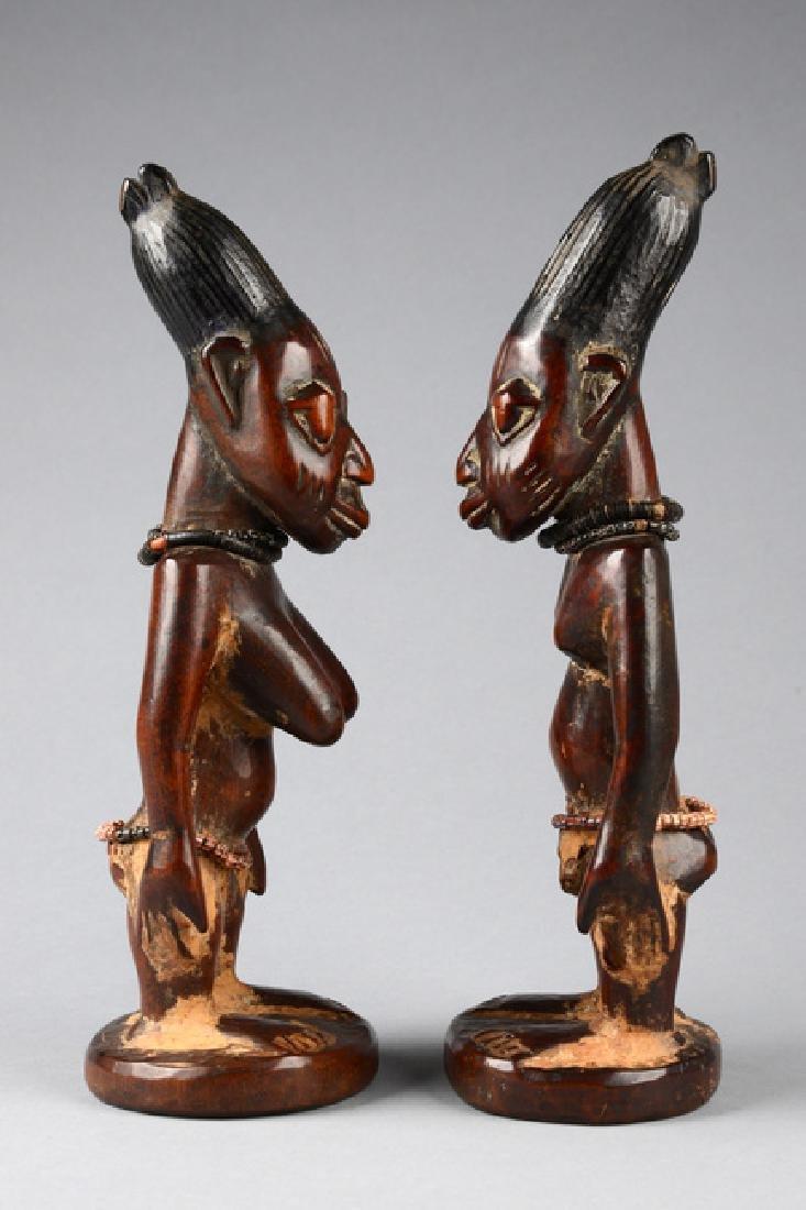 """Male/female pair of twin figures """"ere ibeji"""" - Nigeria, - 2"""