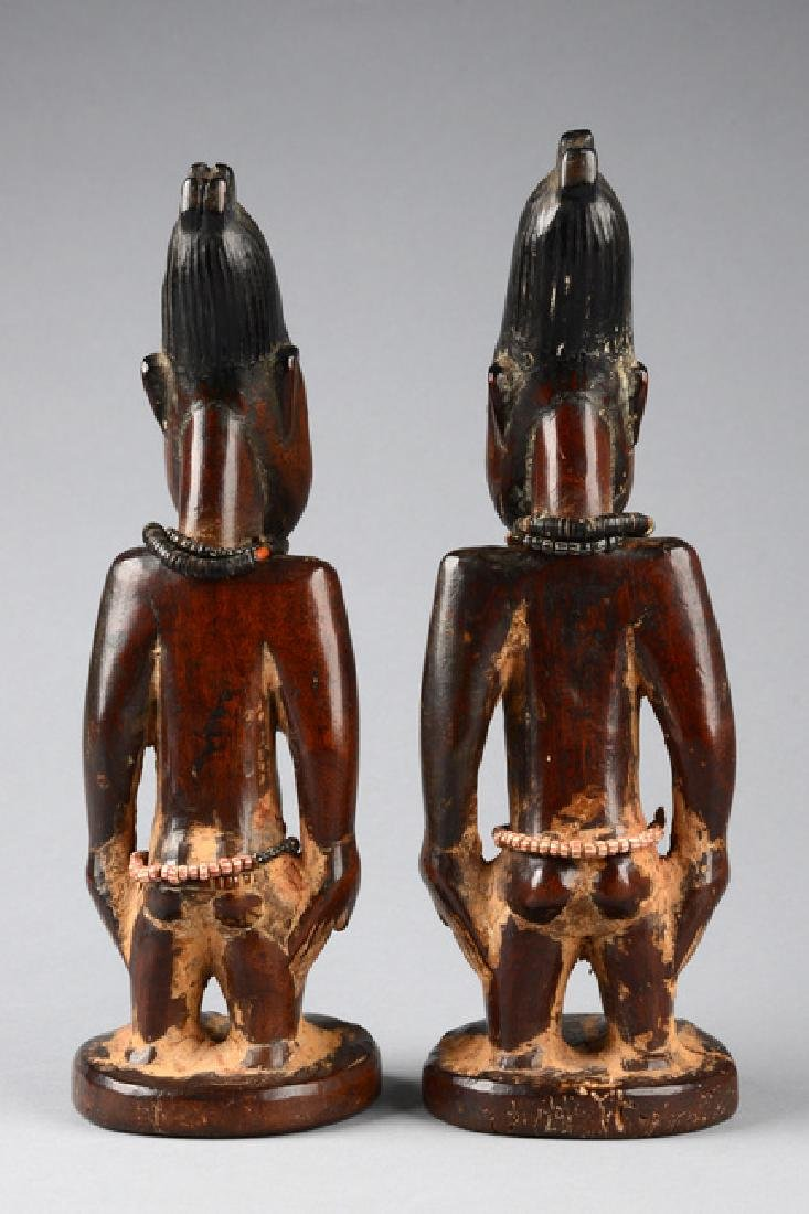 """Male/female pair of twin figures """"ere ibeji"""" - Nigeria, - 3"""