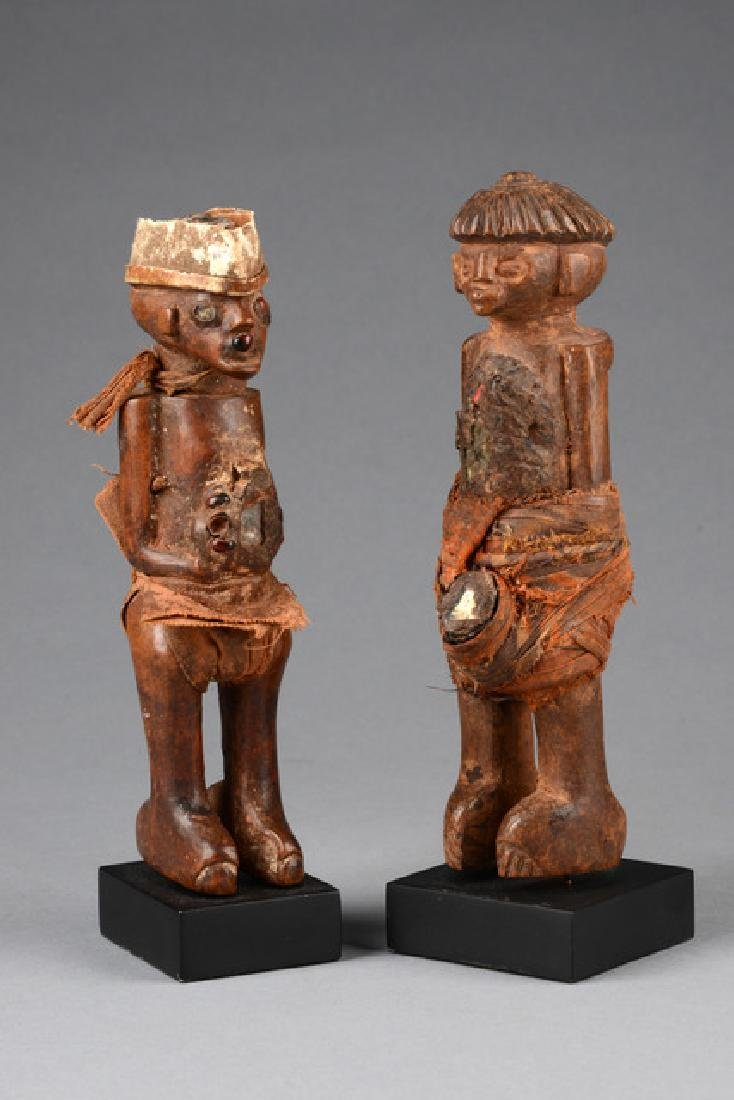 Pair of power figures - D. R. Congo, Chokwe