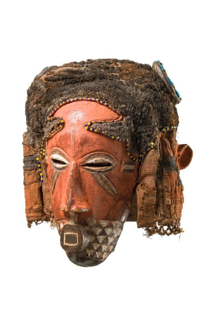 "Anthropomorphic face mask ""ngady a mwaash"" - D. R."