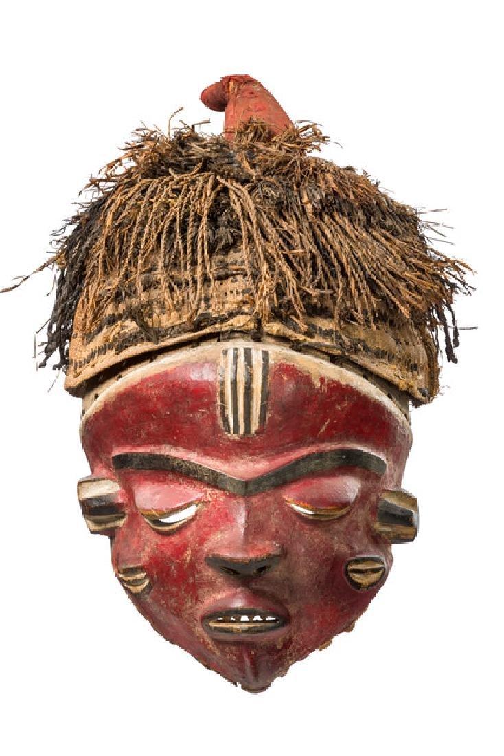 "Female mask ""mbuya"" - D. R. Congo, Pende"
