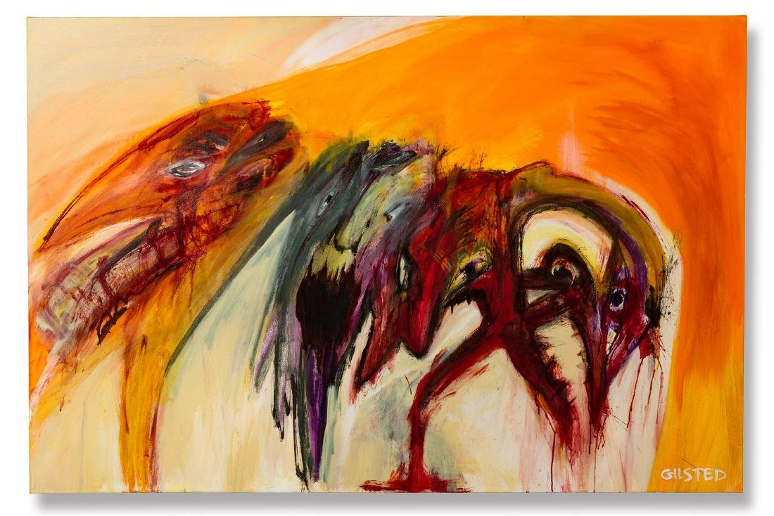 "Untitled (""Three masks"") - Gilsted, Morten (*1973),"