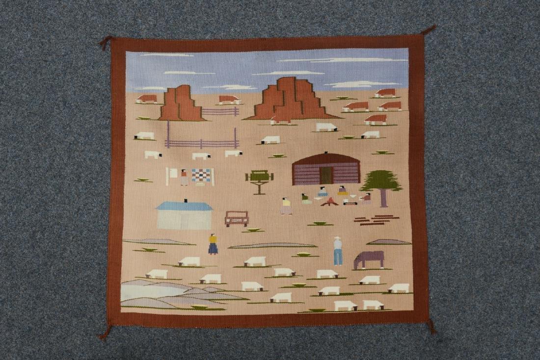 Wallhanging: Landscape pictorial/ Navajo Reservation -