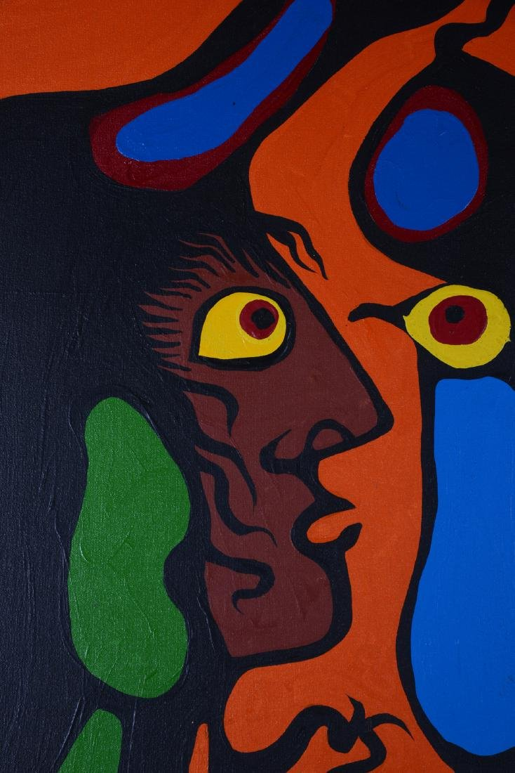 Untitled (Portraits with birds) - Morrisseau, Norval - 3