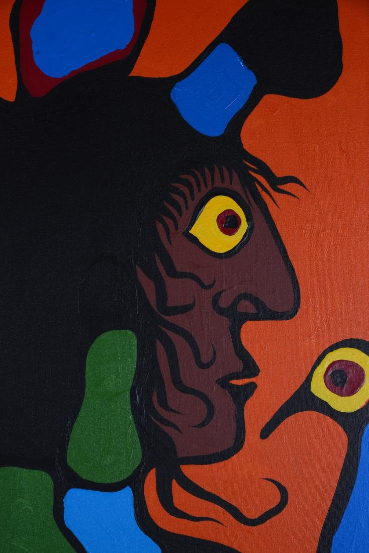 Untitled (Portraits with birds) - Morrisseau, Norval - 4