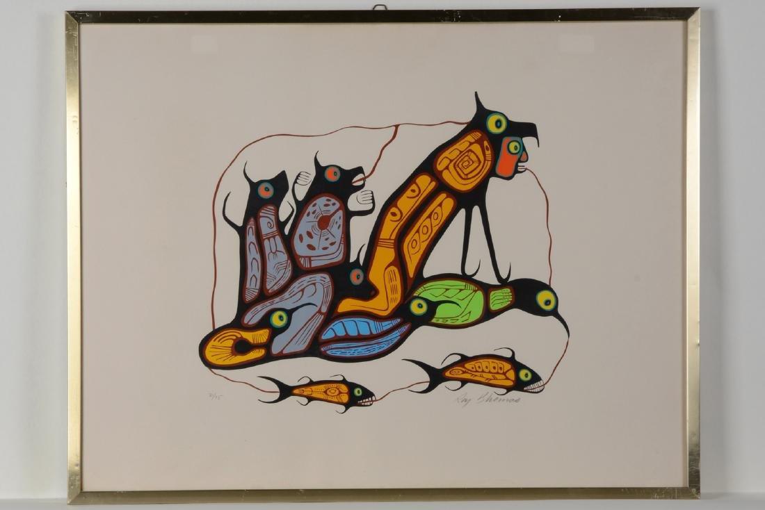 Untitled (Shaman, Wolves, Fish, Birds) - Thomas, Roy