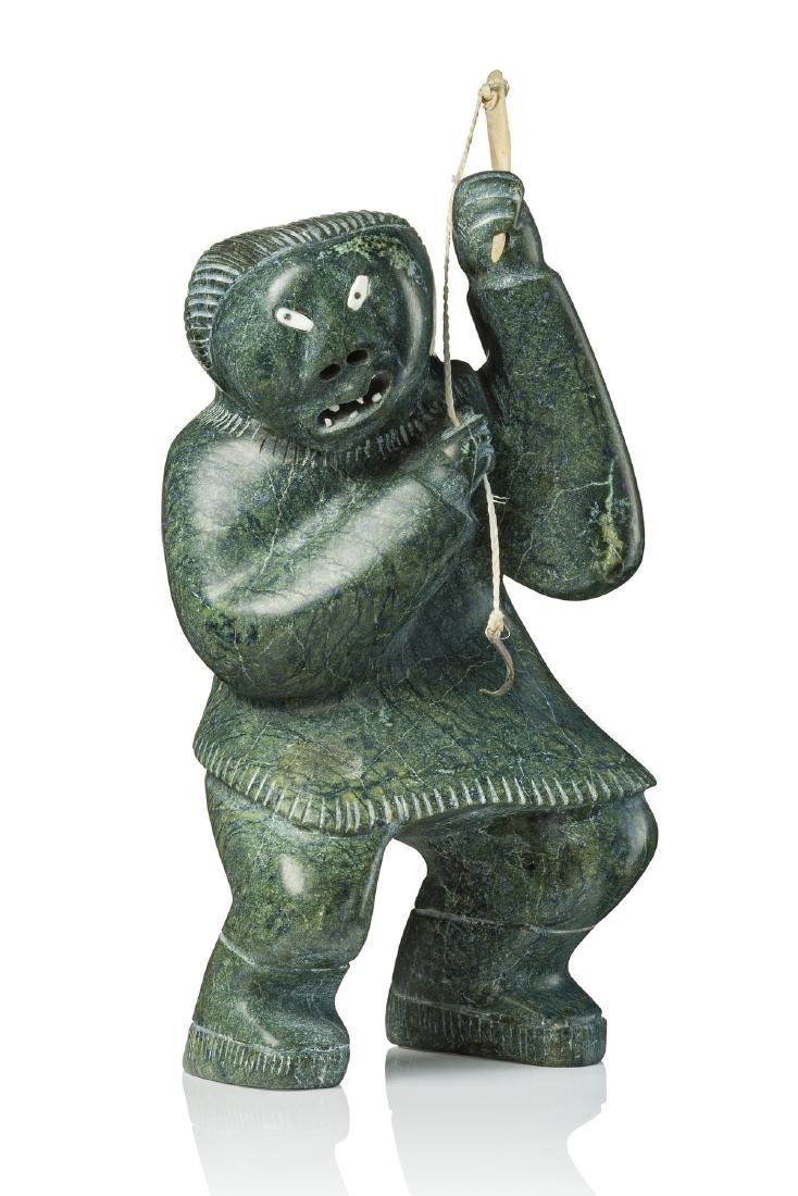 Female figure with fishing rod - Ullulaq, Judas,