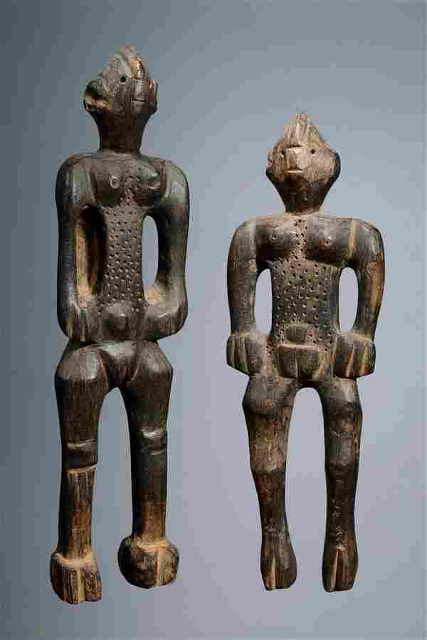 Female pair of figures - Nigeria, Chamba