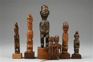 Group of miniature figures - D. R. Congo, Teke