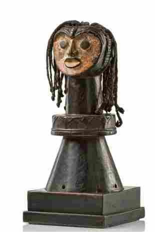 """Headdress """"oglinye"""" - Nigeria, Idoma, Ochai of Otobi or"""