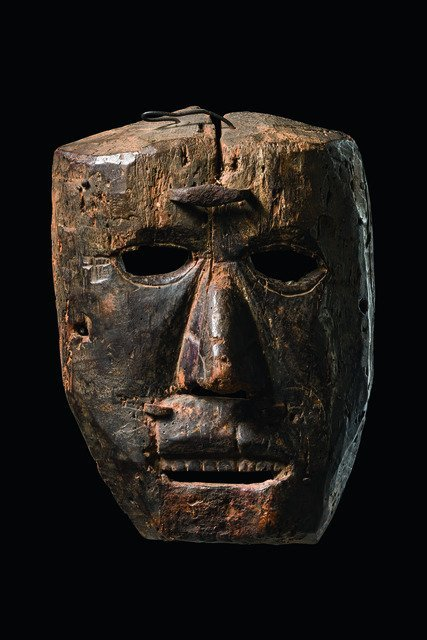 Ancient shaman mask, 17th century - Nepal, Middle Hills