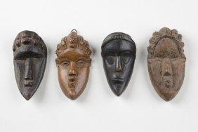 "Four Miniature Masks ""geh Naw"" - Liberia, Bassa"