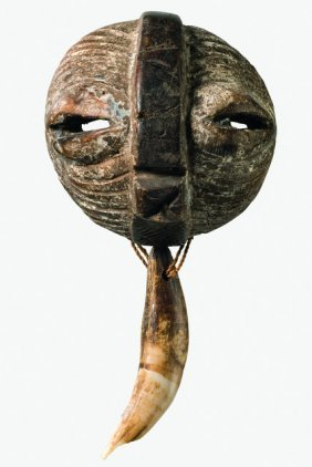 """Miniature Mask """"kifwebe"""" - D. R. Congo, Luba"""