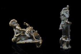 Two Figural Gold Weights - Ghana, Akan