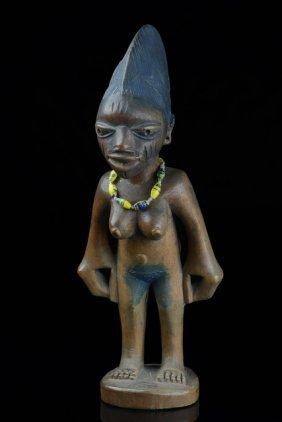 """Female Twin Figure """"ere Ibeji"""", Esubiyi Workshop -"""