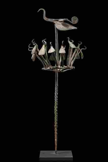 """Ritual staff """"opa osanyin"""" - Nigeria, Yoruba"""
