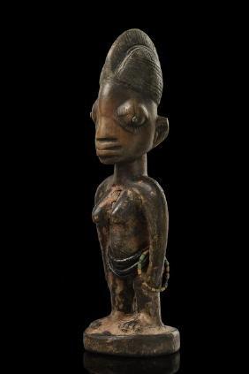 """Female twin figure """"ere ibeji"""" - Nigeria, Yoruba,"""