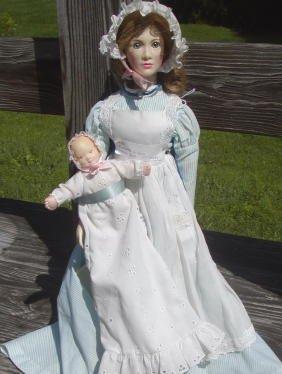 1: 2 Dolls-Suzanne Gibson Nurse with Baby & Franklin Mi