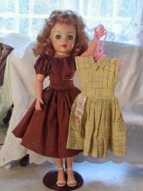 """23: 18"""" Ideal Miss Revlon, Original Tagged Dress"""