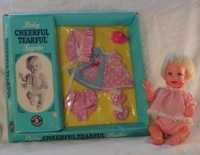 """24: 6 1/2"""" Vintage Mattel Cheerful Tearful, with Boxed"""
