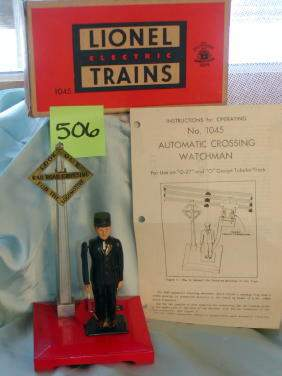 Lionel Operating Watchman No 1045, Original Box