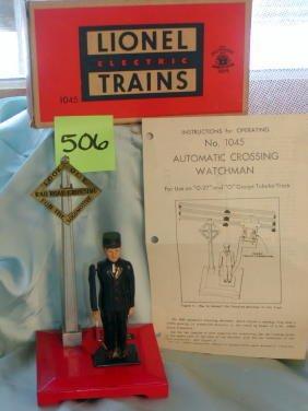 506: Lionel Operating Watchman No 1045, Original Box