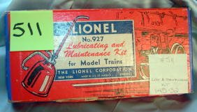 511: Lionel 927 Lubricating and Maintenance Kit,Instruc