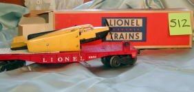 512: Lionel Flat Car with Airplane No. 6800, Original B