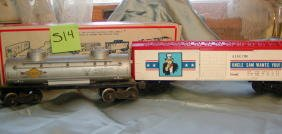 514: Lionel Uncle Sam Box Car 6-7700, and Tank Car 6465