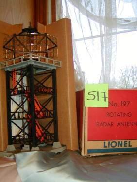 Lionel Rotating Radar Antenna No 197, Original Box